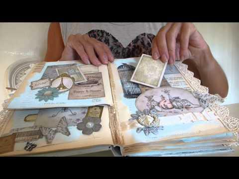 Vintage ShabbyChic Altered Book Mini Scrapbook Album  -  SOLD