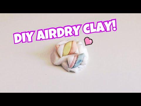 DIY Air Dry Clay! 3 INGREDIENTS NO GLUE! | Kawaii Fluff