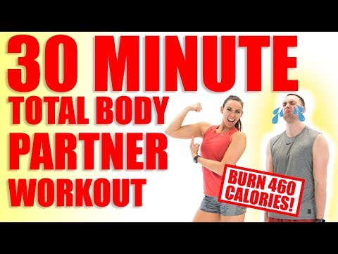 30 Minute Full Body Partner Workout 🔥Burn 460 Calories! 🔥