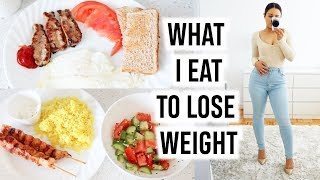 WHAT I EAT IN A DAY TO LOSE WEIGHT - My Realistic Lifestyle & Meals!