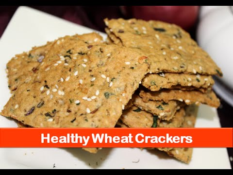 Healthy easy baked crackers recipe/low calorie evening tea biscuit snacks recipes-let's be foodie