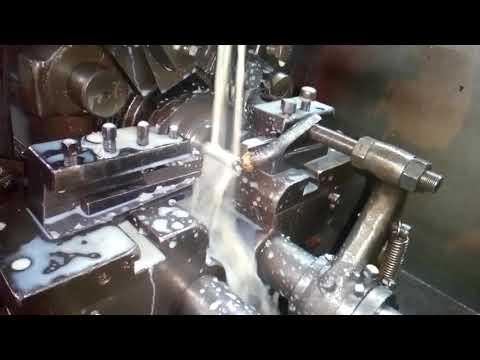 Aluminum pipe cutting on tromb machine in one time 2 piece cutting