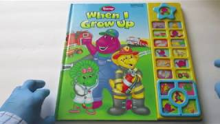 """BARNEY """"When I Grow Up"""" INTERACTIVE Play-A-Sound"""
