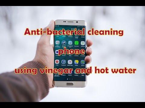 Simple Anti-bacterial cleaning phone/ using vinegar and hot water / sunil kumar