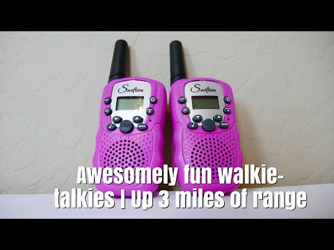 Swiftion Rechargeable Kids Walkie Talkies |  Maybe Up To Three Miles In Range