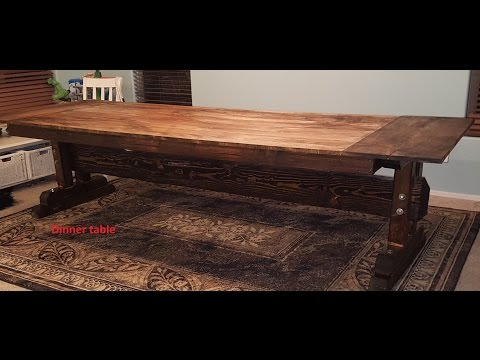 diy Rustic farmhouse dining table BIG