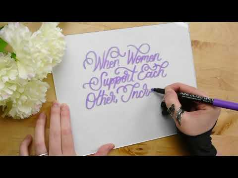 Modern Calligraphy: Lettering on Glass for the International Women's Day