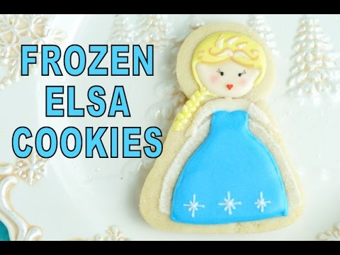 FROZEN ELSA DECORATED COOKIES, HANIELA'S
