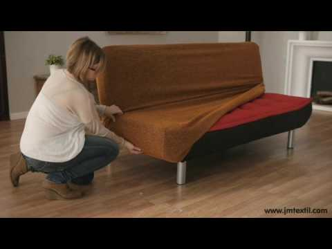 How to Put a Click Clack Sofa Cover