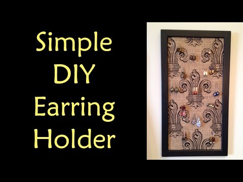 DIY Earring Holder with Burlap