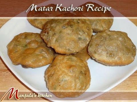Matar Kachori (Spicy Puffed Pastry) Recipe by Manjula, Indian Vegetarian Gourmet