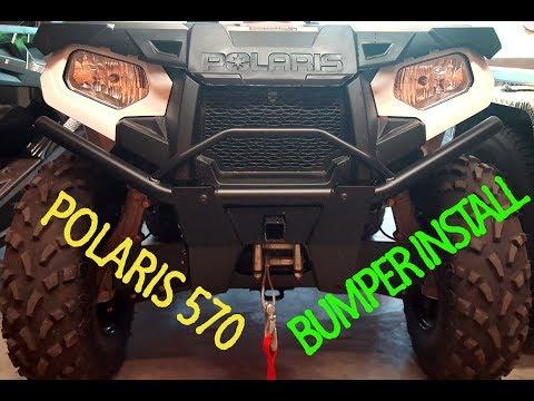 Polaris Sportsman 570 Brush Guard/Bumper Install & Review