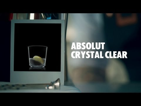 ABSOLUT CRYSTAL CLEAR DRINK RECIPE - HOW TO MIX