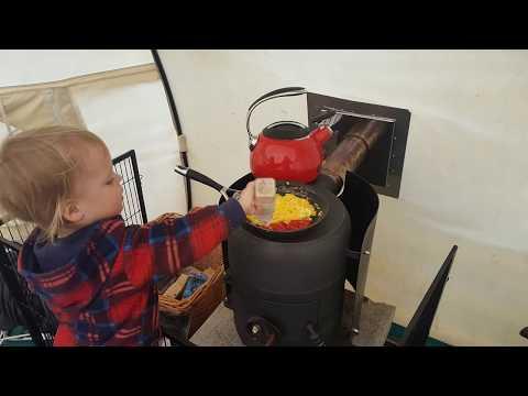 making amazing gas bottle wood stove part 3