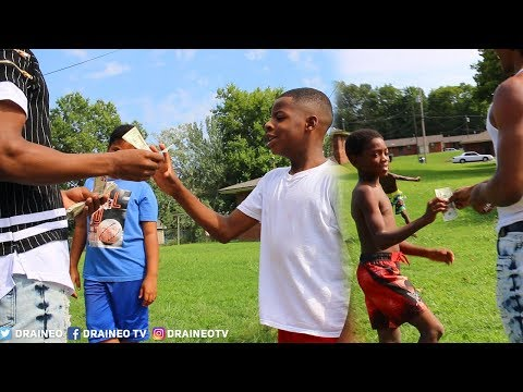 Giving Kids MONEY In The HOOD + SURPRISING A Subscriber At Birthday Party (EMOTIONAL)