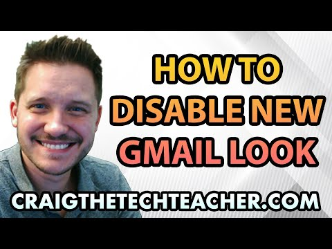 How To Enable or Disable The Google GMail New Look
