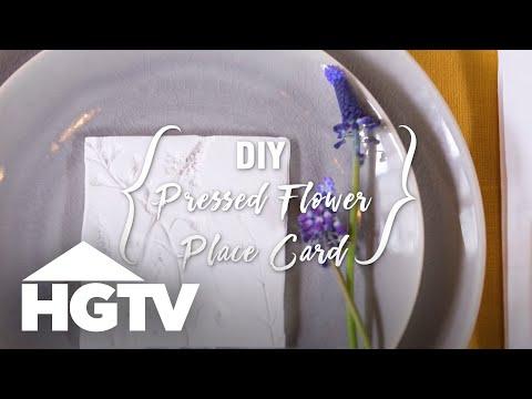 DIY Pressed Flower Place Card - HGTV