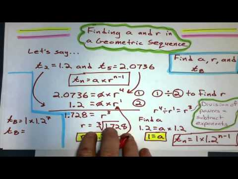 Finding the First Term and Common Ratio from a Geometric Sequence