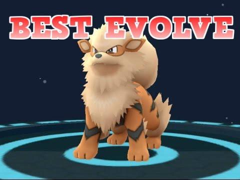 Pokemon Go / Best evolve from Growlithe to Arcanine