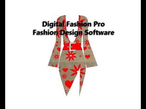 Digital Fashion Pro Fashion Design Software Video - Design Dress & Fabric