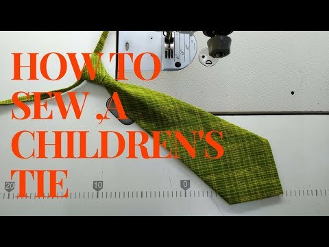 how to sew a Children's Tie👔boys ties making 👔