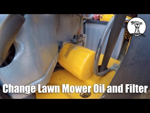 How To: Change The Oil and Filter in a Riding Lawn Mower