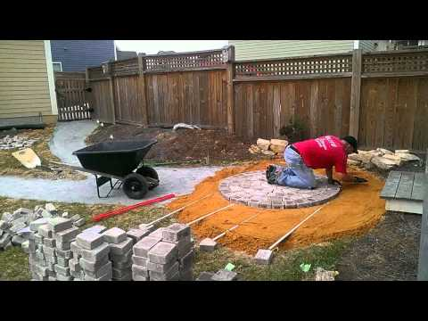 Time Lapse Circular Patio Paver Installation - Part 1