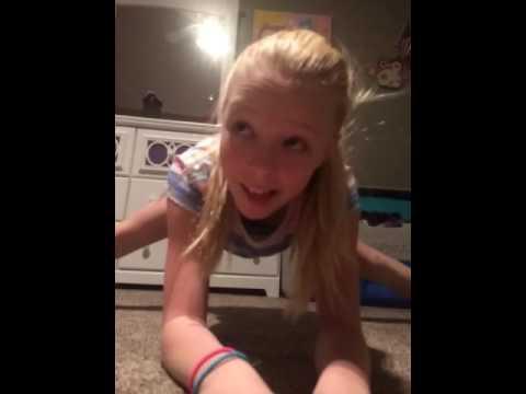 Gymnastics in my room😋
