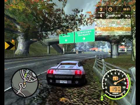 Need For Speed Most Wanted 2005 in LAN | Bonus Cars Series - Lamborghini Gallardo VS BMW