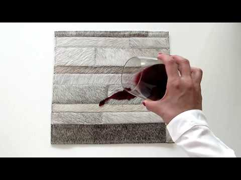 How To: Remove and Clean Liquids from Patchwork Cowhide Rugs by Shine Rugs