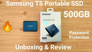 Samsung T5 Portable SSD 500GB Unboxing & Review, SpeedTest, Password Protection, Mobile Support??