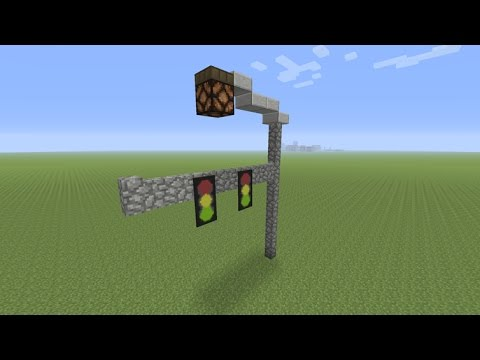 Minecraft - How to Make a Traffic Signal