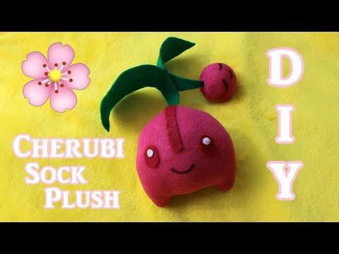 ❤ DIY Cherubi Sock Plush! How To Make A Cute Pokemon Plushie! ❤