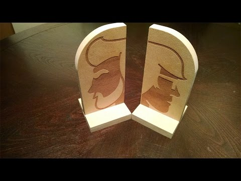 Bookends- Etching the Logo (Laser Cutter)