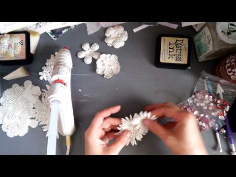 How to make paper flowers from book pages?