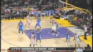 Los Angeles Lakers vs Denver Nuggets Game 1 - 1st Round Playoffs 4/20/2008.  Kobe Bryant 32 Points