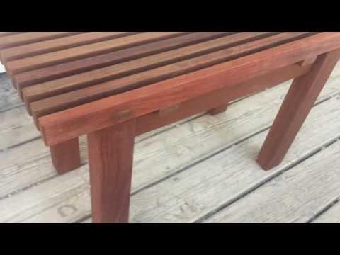 Beautiful handmade wood shower bench