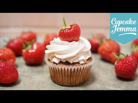 Strawberries and Cream Cupcakes | Cupcake Jemma