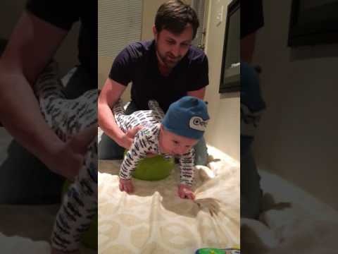 How to teach your baby to crawl...