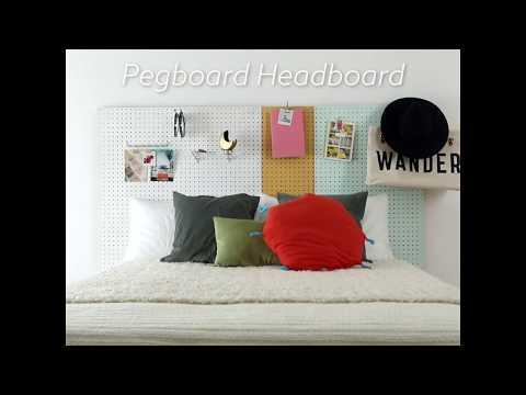 How to Make a Pegboard Headboard