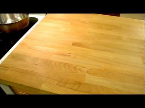 1 Year follow up review - Ikea  Numerar butcher block kitchen countertop