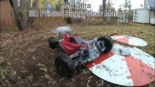 Mk Ultra - 3D Printed 4WD buggy slow motion