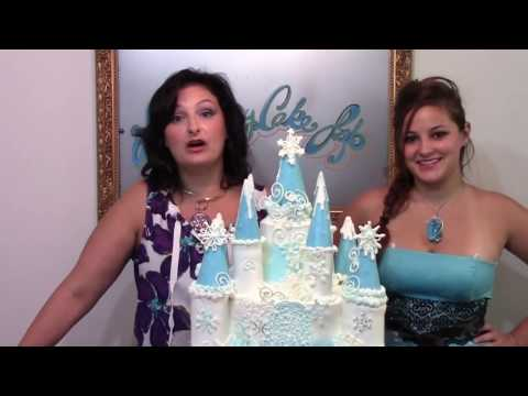 How To Make A Frozen Castle Cake / Cake Decorating