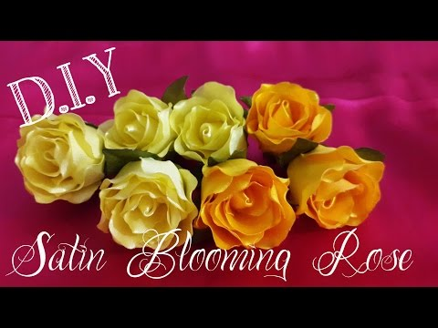 D.I.Y. Satin Blooming Rose Tutorial | MyInDulzens