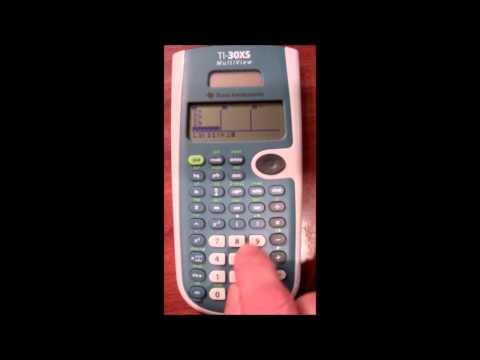 TI-30xs Calculator Demonstraion for Descriptive Statistics
