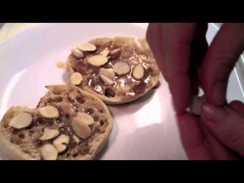 Almond Cranberry Cream Cheese English muffin YUM!!