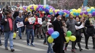 Marșul colorat împotriva avortului