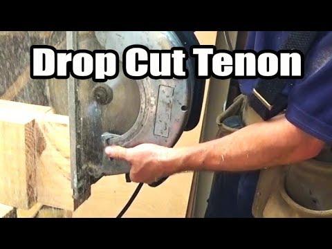 Timber Framing Tenon Drop Cut