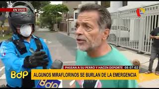 MIRAFLORINOS NO ACATAN NORMAS Y AGREDEN A REPORTERA #CORONAVIRUS #PERÚ #ESTADODEEMERGENCIA