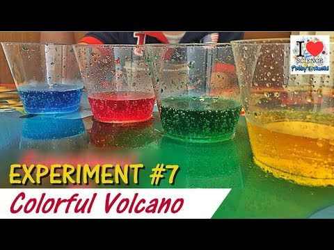 Vinegar + Baking Soda Colorful Volcano | Experiment #7 | Praky's World | Viral Video